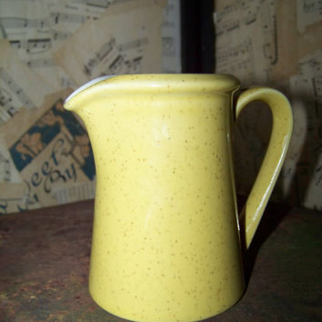 Vintage Lemon N Lime Creamer P3302--Imperial by W Dalton Stoneware Pitcher--Made in Japan--Retro Kitchenware--Syrup Pitcher