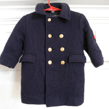 Boys Coat Military Style Vintage Fieldstone Clothes 3T Toddler
