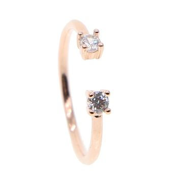 Open Cuff Ring - Rose Gold