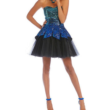 Masquerade Ombre Sequined Tulip Dress | Dillards