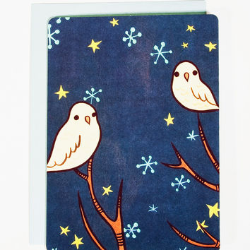 Blank Christmas Cards - Starry Night Owl Notecards (Set of 10)