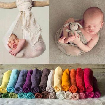 VONEGQ Newborn Photography Props Infant Costume Outfit 180cm Long Cotton Soft Photo Wrap Matching Baby Photo Props fotografia