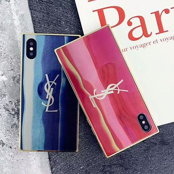 YSL 2018 Hot!Trending Stylish iPhone X iPhone 8 plus - Stylish Cute On Sale Hot Deal Matte Couple Phone Case For iphone 7 6s 6plus 6s plus I-OF-SJK