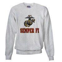 USMC Globe Semper Fi Sweatshirt on CafePress.com