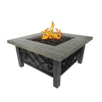 Bond Manufacturing, Marbella 34 in. Square Stainless Steel Propane Fire Pit, 67531 at The Home Depot - Mobile