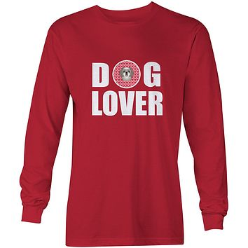 Gray Silver Shih Tzu Dog Lover Long Sleeve Red Unisex Tshirt Adult Medium BB5320-LS-RED-M