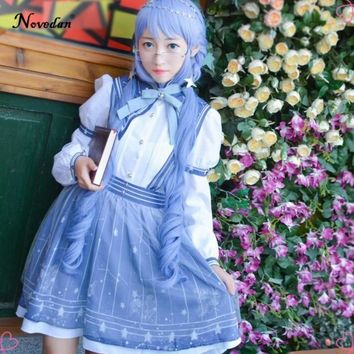 Miracle Nikki Anime Love and Producer Nikki Sweet Gothic Lolita Dress Sissy Maid Cosplay Uniform Halloween Costume For Women