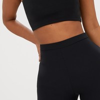 Shape Black Bandeau Crop Top