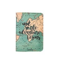 Travel Inspiration [Name customized] Leather Passport Holder/Cover Travel Wallet_SCORPIOshop