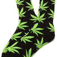 HUF The Plantlife Socks in Black : Karmaloop.com - Global Concrete Culture