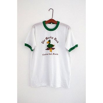 Vintage 1980s 'The Mucky Duck' + Ringer Tee