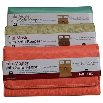 Mundi File Master Clutch Organizer Womens Wallet