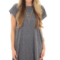 Speckled Tshirt Dress, Gray