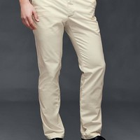 Vintage washed slim fit khakis