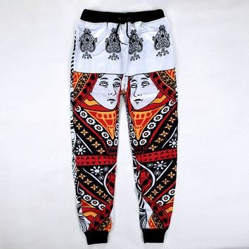Harem Sweatpants Trousers Printed Casual for Jordan Emoji Joggers