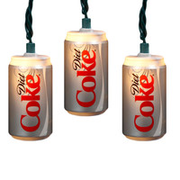 Kurt Adler 10-light Diet Coke Can Light Set