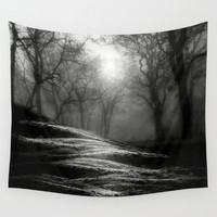 Black and White - From small beginnings and big endings Wall Tapestry by Viviana Gonzalez