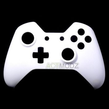 Custom Solid White Top Front Housing Shell Case Mod Part For Xbox One Controller