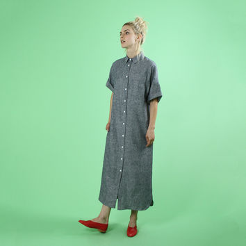 Akiko Shirtdress, Indigo Chambray