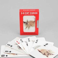 3-D Cat Playing Card Set