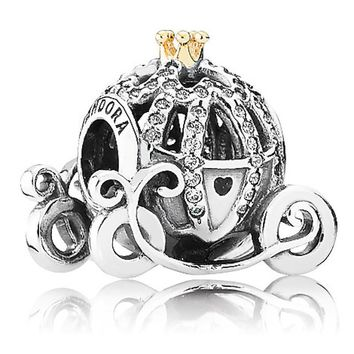 disney parks cinderella pumpkin coach pandora jewerly charm new with pouch