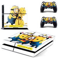 The Minions design skin for ps4 decal sticker console & controllers