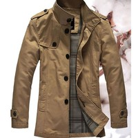 *Free Shipping* Khaki Men Wind Coat M/L/XL/XXL 416A520