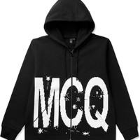 McQ Alexander McQueen Black Oversized Zip Hoodie | HYPEBEAST Store. Shop Online for Men's Fashion, Streetwear, Sneakers, Accessories