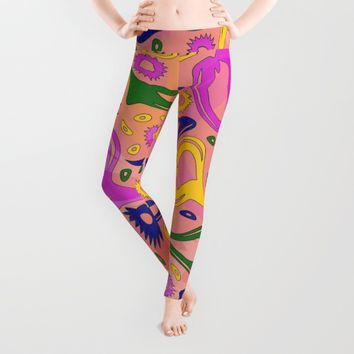 Oh My Hearts and Stars! Leggings by Stephen Linhart