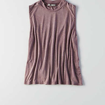 Don't Ask Why Mock-Neck Tank, Purple