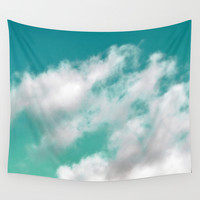 Mint Sky 3 - Wall Tapestry