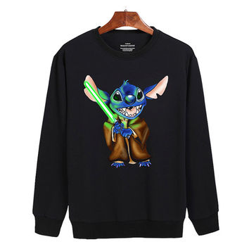 Yoda Stitch star wars Sweater sweatshirt unisex adults size S-2XL