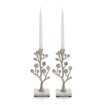Michael Aram Botanical Leaf Candlesticks | Bloomingdales's