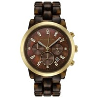Michael Kors Womens Showstopper Tortoise Watch MK5216