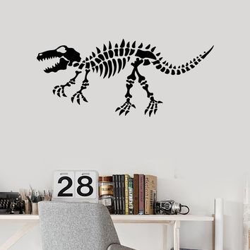 Vinyl Wall Decal Dinosaur Skeleton Kids Room Idea Art Decor Stickers Mural Unique Gift (ig5192)