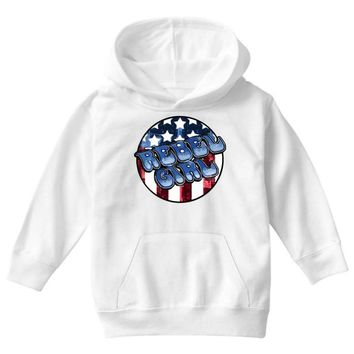rebel girl 2 Youth Hoodie