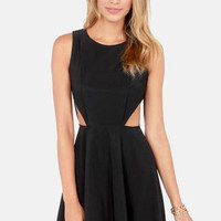 Run the Show Backless Black Dress