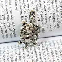 Turtle charms 18*34mm antique silver tone Tortoise pendant