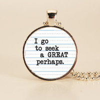 John Green - Looking For Alaska Quote Charm