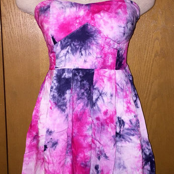 Tie-dyed strapless festival dress size small, medium, or large