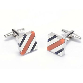 V.Ya Fashion Business Copper Men Cuff Links for Shirts Good Paint Cufflinks Luxury Men Cool Wedding Button Cuff-links Gifts XK52