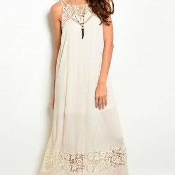 Ark & Co : Crochet and Lace Maxi Dress
