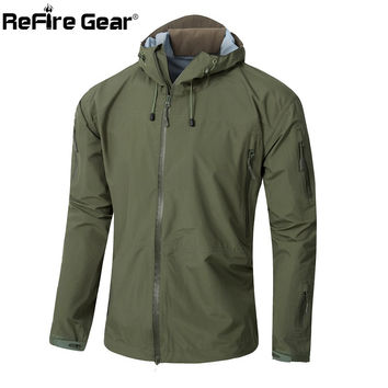 Army Gear Waterproof Hard Shell Military Jacket Men Spring Camo Hooded Tactical Jacket Thin Windbreaker Coat Camouflage Clothes