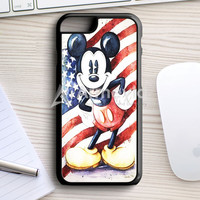 Dinsey Mickey Mouse Retro Usa Flag iPhone 7 Case | armeyla.com