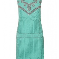 Deco Sequin Shift Mint - Clothing