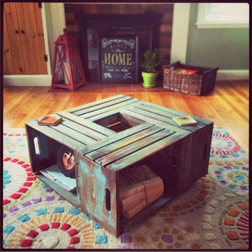 Wine Crate Coffee Table // Rustic Coffee Table // Coffee Table // Table // Rustic // Home Decor // Coffee