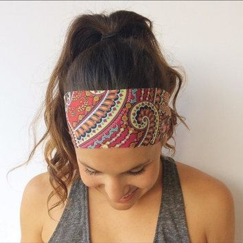 Yoga Running Headband - Workout Headband - Fitness Wide Headband