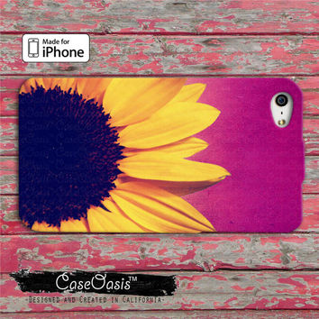 Sunflower Cute Flower Tumblr Inspired Purple Ombre Custom iPhone 4 and 4s Case and Custom iPhone 5 and 5s and 5c Case