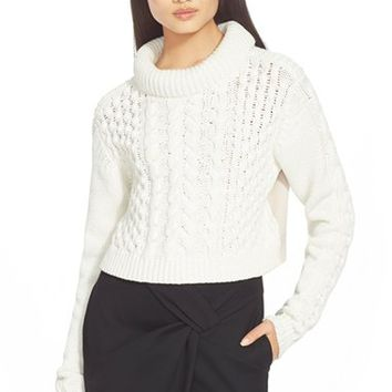 Women's Tibi Cable Knit Sweater,