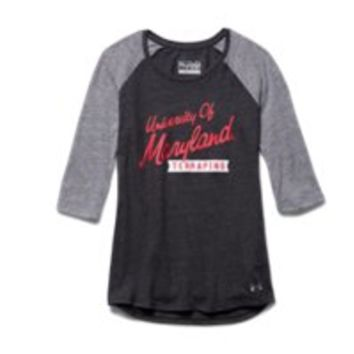 Under Armour Girls' Maryland UA Tri-Blend  Sleeve